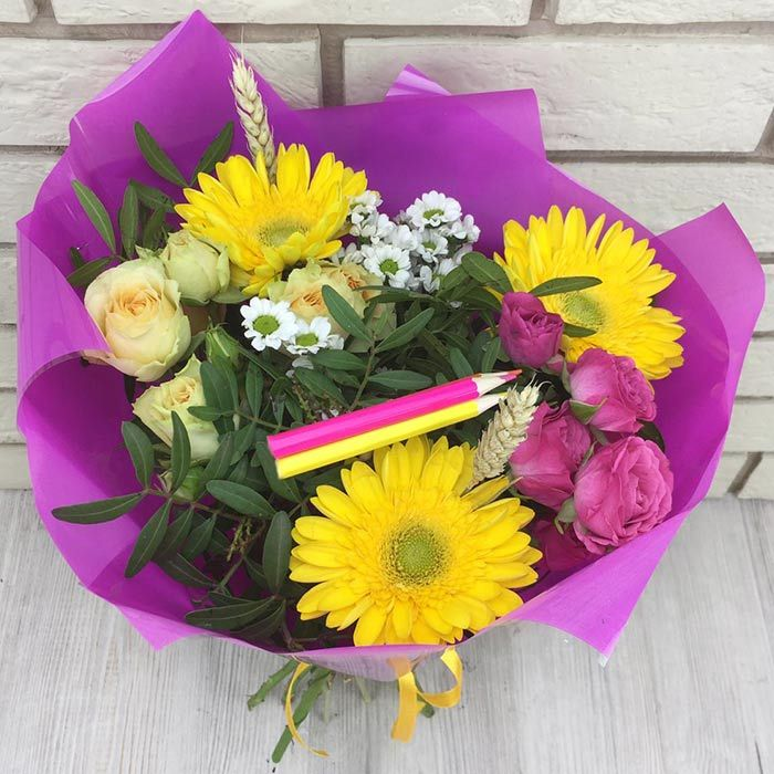 Цветы, букеты к 1 сентября дешевые